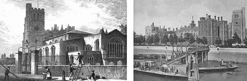 Lambeth Palace Church was where the Moore family were baptised
