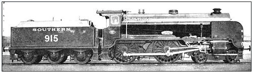 a Southern Railway steam locomotive train as driven by Maria Moore's father