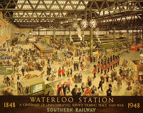 Southern Railway Waterloo Station centenary poster