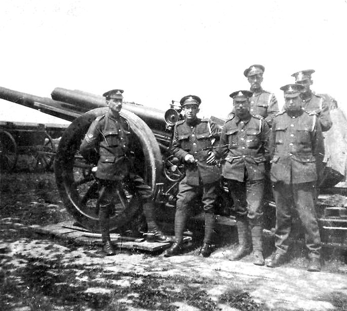 this is a WW1 photograph of William George Moore as a gunner in the Royal Artillery