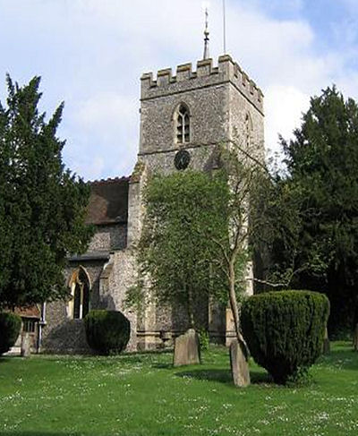 St Mary's Church Wendover where the Moores were baptised
